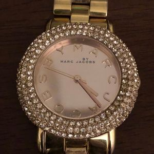 Marc Jacobs Rose Gold Swarovski Crystal Watch